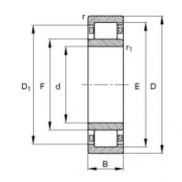 підшипник NU1076-M1 FAG