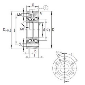 підшипник ZKLF50115-2RS-PE INA