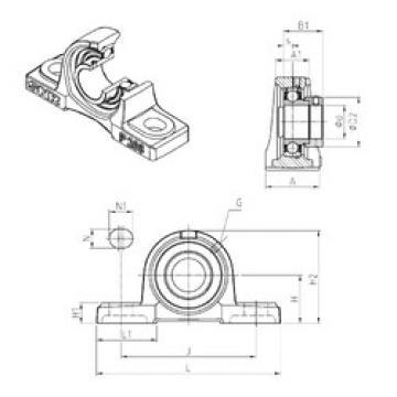 підшипник ESP212 SNR