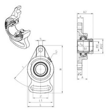 підшипник EXFA210 SNR