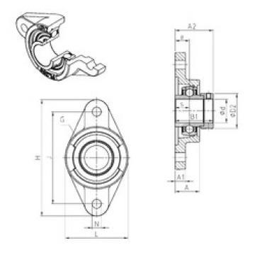 підшипник EXFL310 SNR