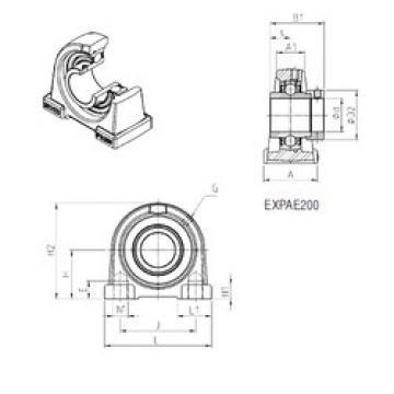 підшипник EXPAE206 SNR