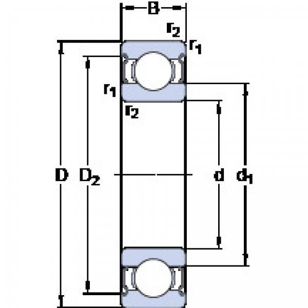 підшипник E2.6206-2Z SKF #1 image