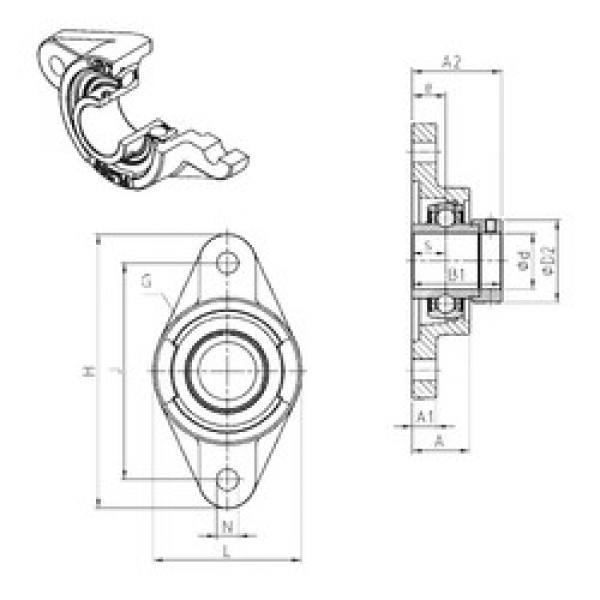 підшипник EXFL317 SNR #1 image