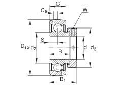 підшипник GRA103-NPP-B-AS2/V INA
