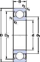 підшипник E2.6206-2Z SKF