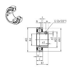 підшипник CUS205-14 SNR