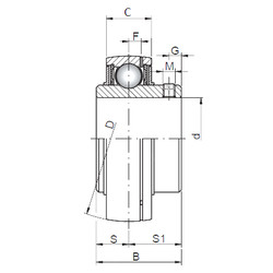 підшипник UC312 CX
