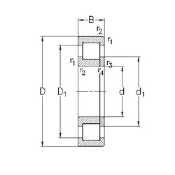 підшипник NUP2222-E-TVP3 NKE