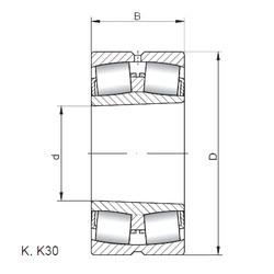 підшипник 22307 KW33 ISO